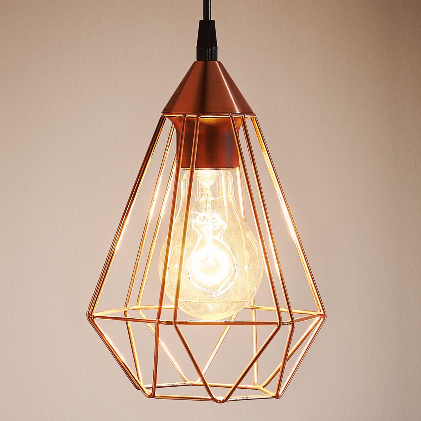 Lámpara colgante Tarbes, 1 luz, 17,5cm, cobre