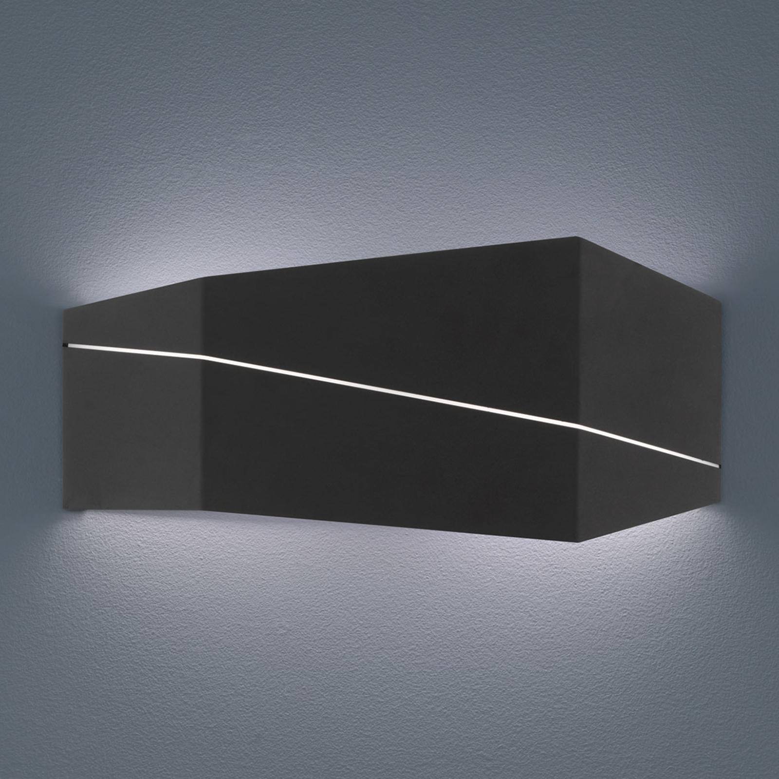 Zorro - moderne LED wandlamp, zwart mat, 40 cm