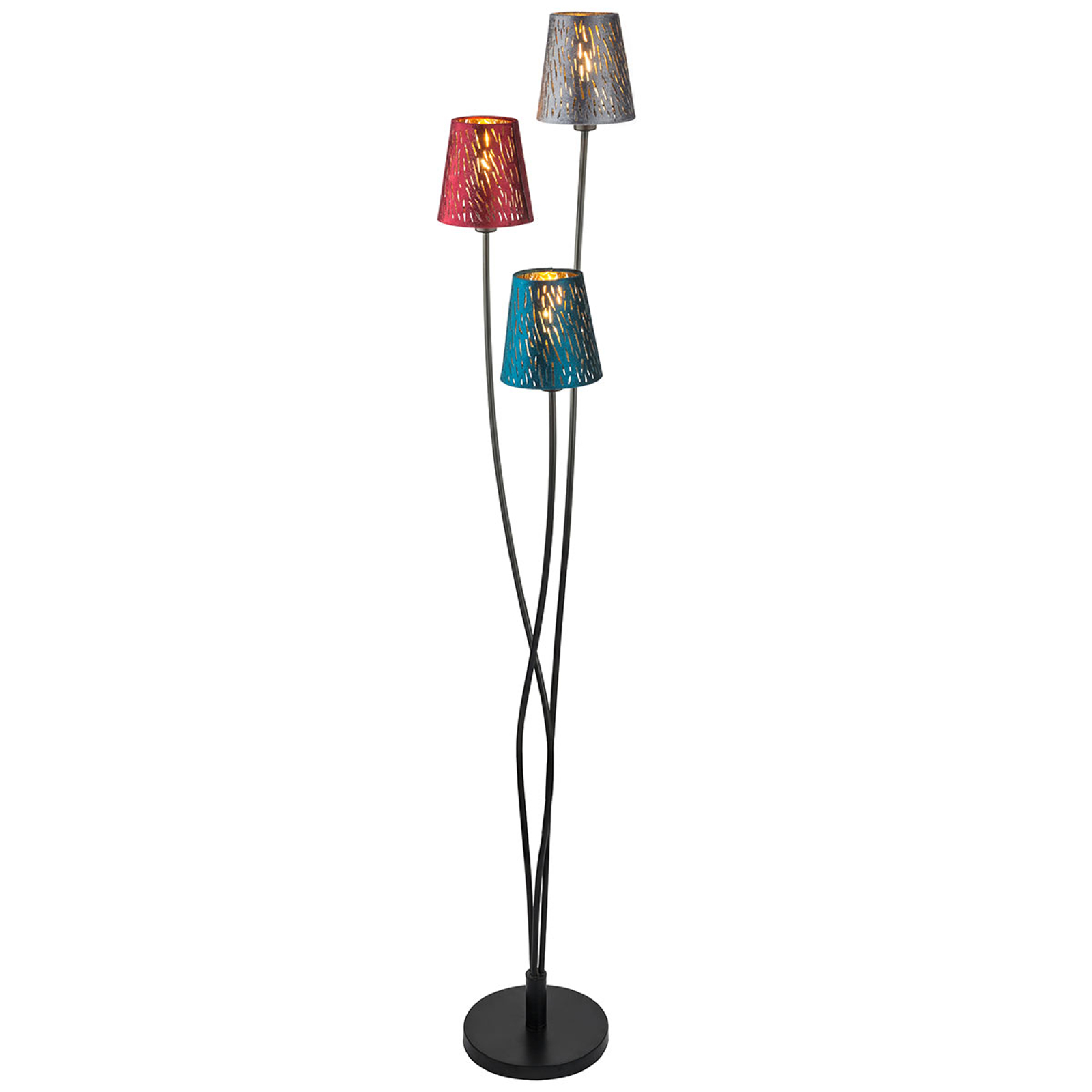 Lámpara de pie Ticon con 3 luces