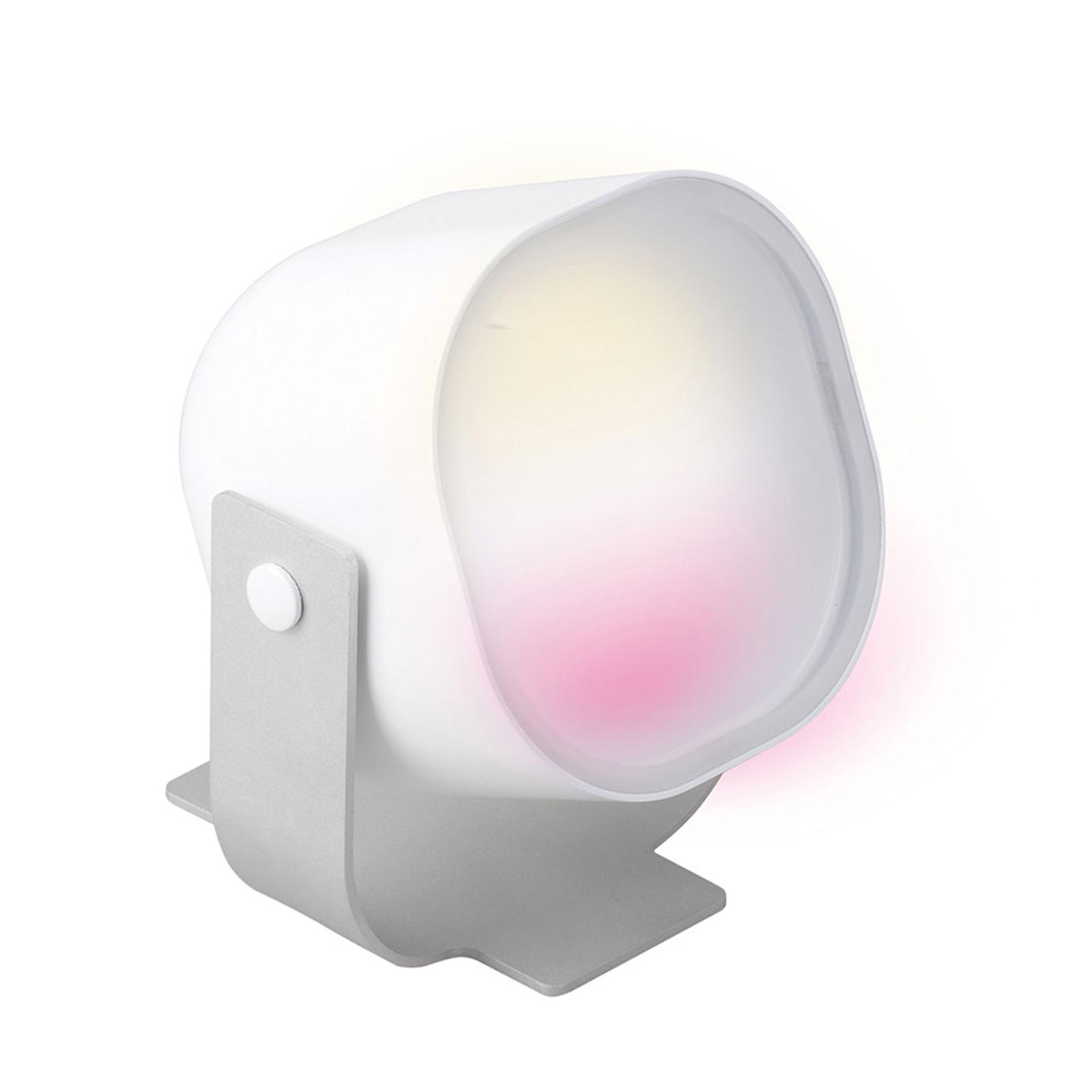 iDual Lilas lampe à poser LED avec télécommande
