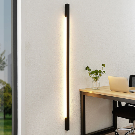 Arcchio Ivano LED-vegglampe, 170 cm, svart