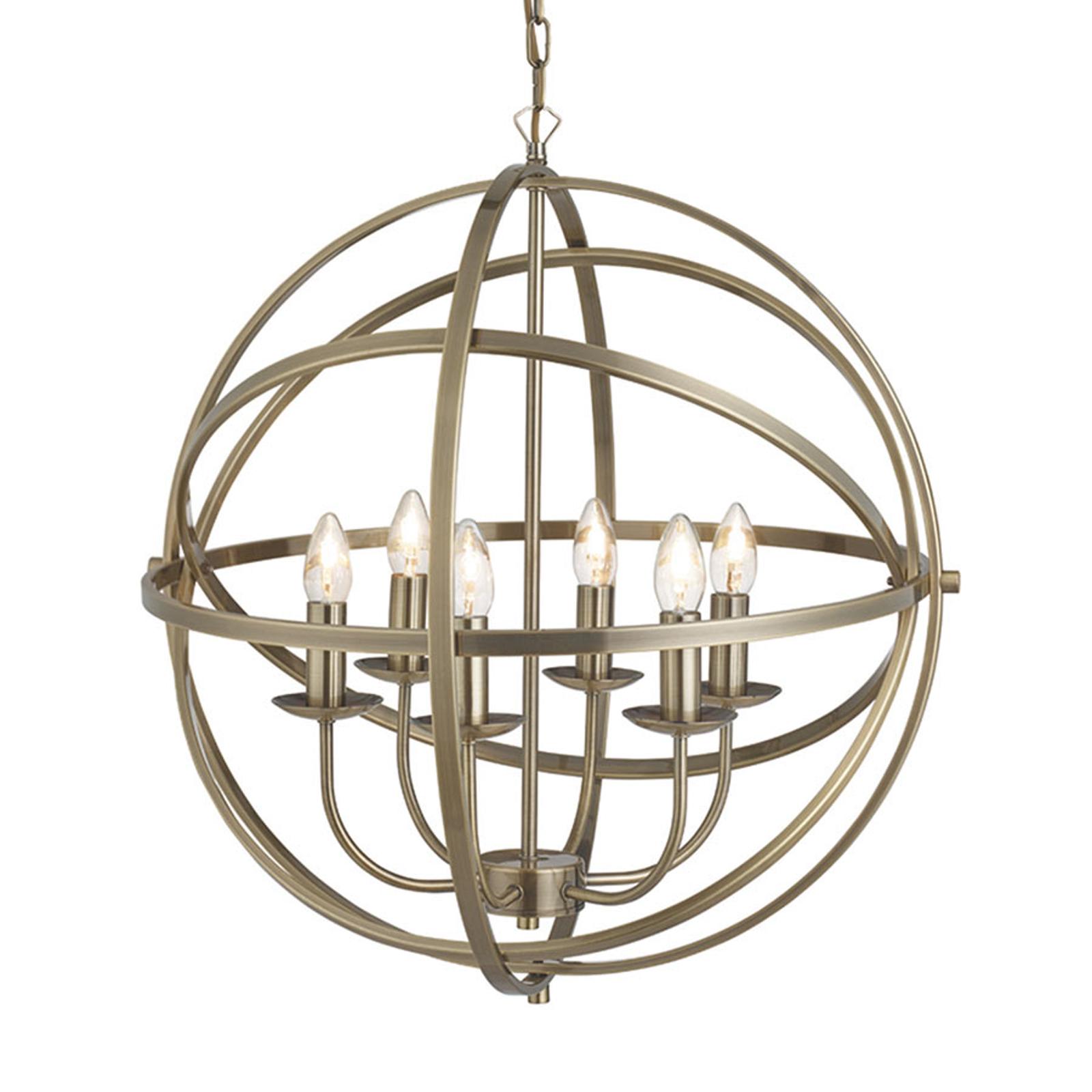 Wdzięczna lampa wisząca Orbit o designie klatki
