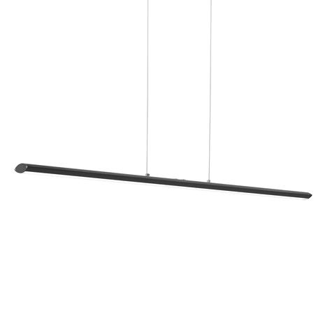 Lámpara colgante LED Pellaro negra atenuable