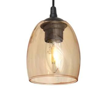 Brilliant hængelampe med glasskærm, ravgul
