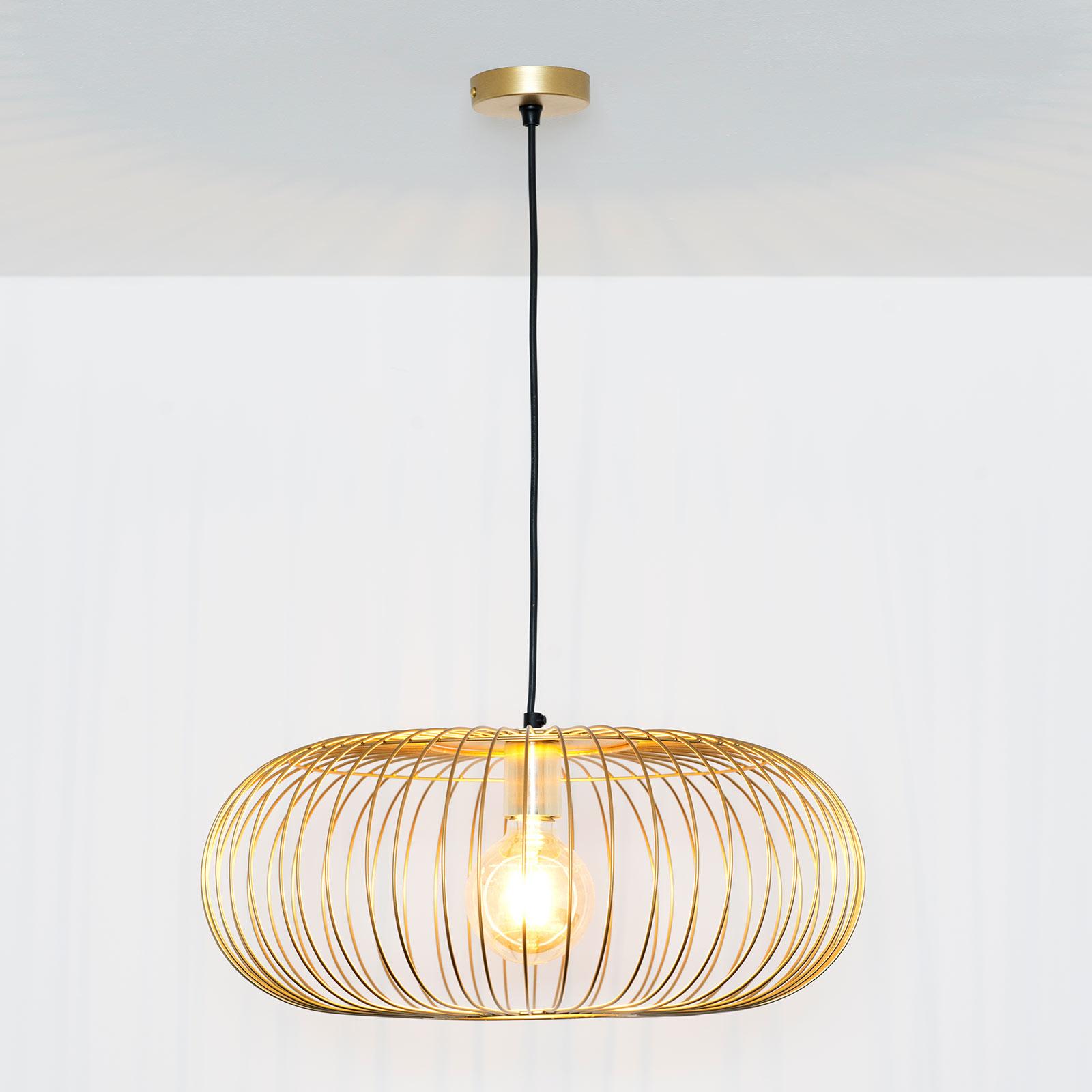 Lampada a sospensione Protetto, oro, Ø 40 cm