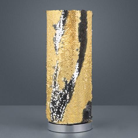 Lindby Jacira lámpara de mesa con lentejuelas