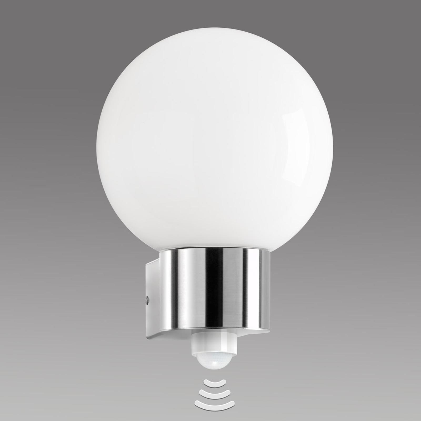 Venkovní nástěnné svítidlo Kekoa z nerezu, senzor