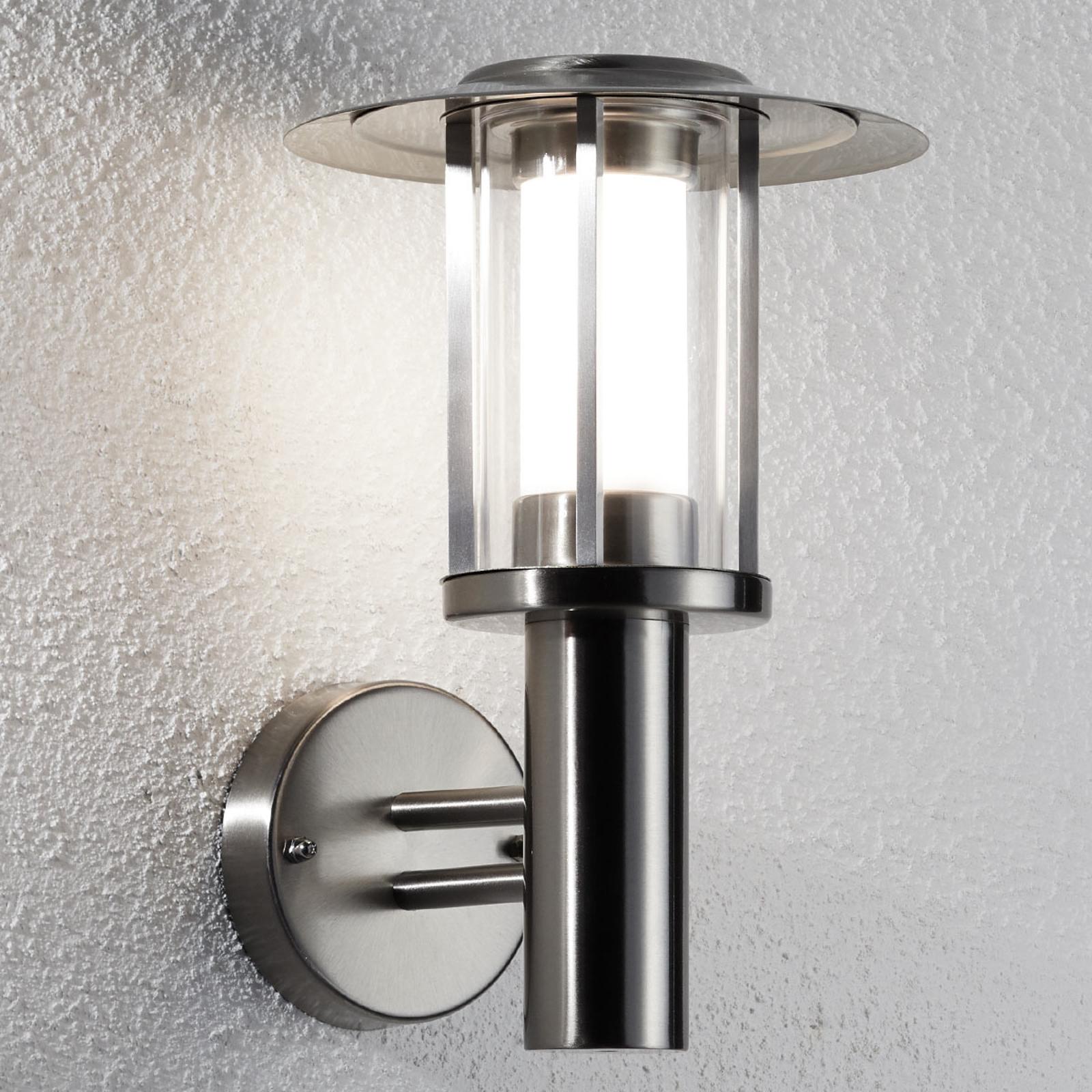 Utendørs LED-vegglampe Gregory rustrfritt stål