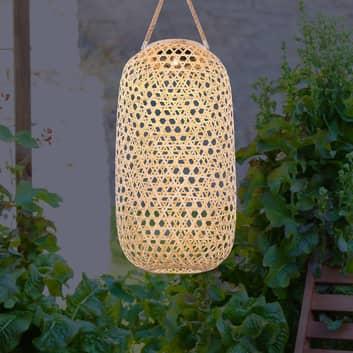LED solární světlo 33671 lucerna z bambusu