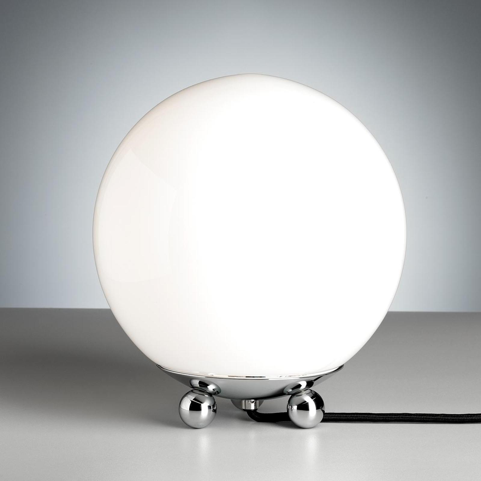 Bordlampe i Art Déco stil fra Frankrike krom