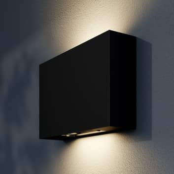 Applique d'extérieur LED Isalie, ronde, gris foncé