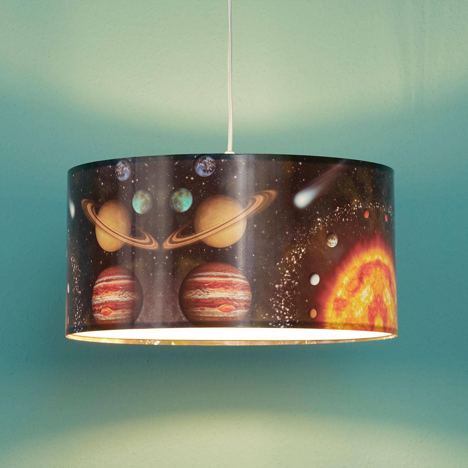 Lampa wisząca Space z nadrukiem kosmosu