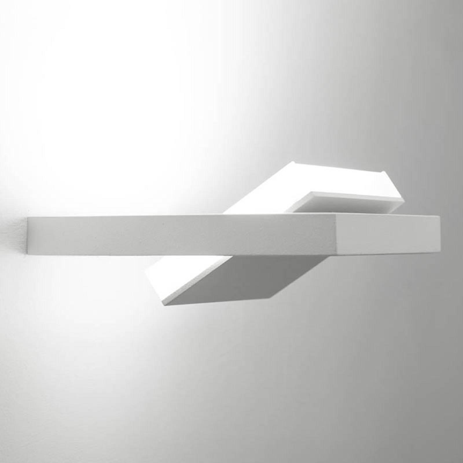 LED-Wandleuchte Tablet W1, Breite 16 cm, weiß
