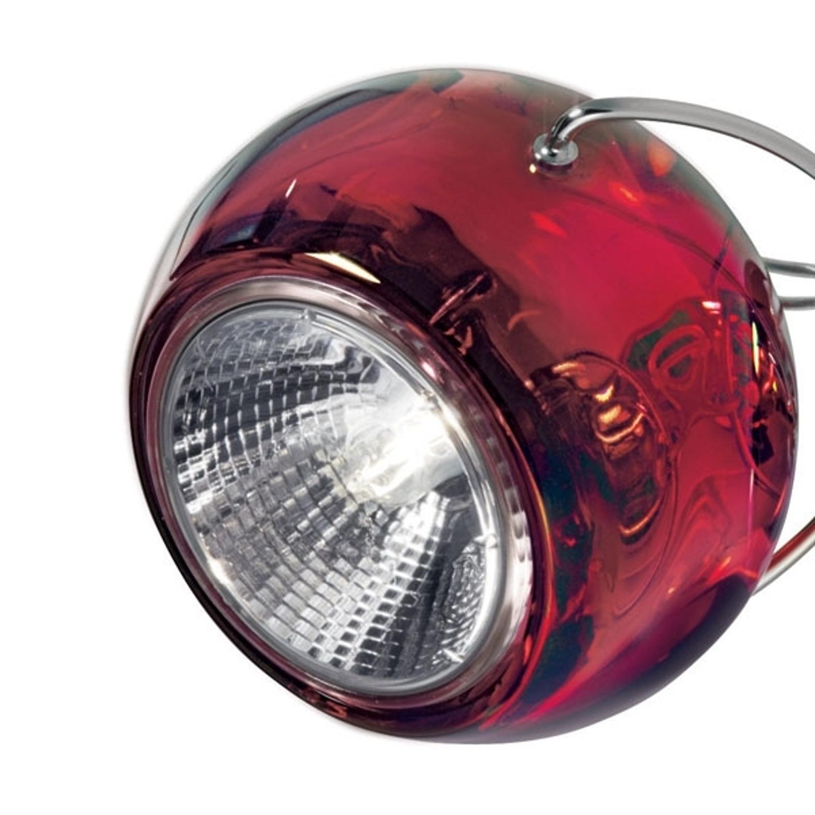 Chique design hanglamp BELUGA COLOUR rood