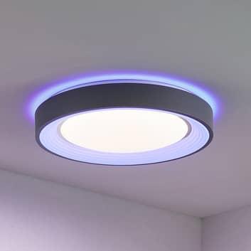Lindby Lindum plafonnier LED, RVB, CCT, dimmable
