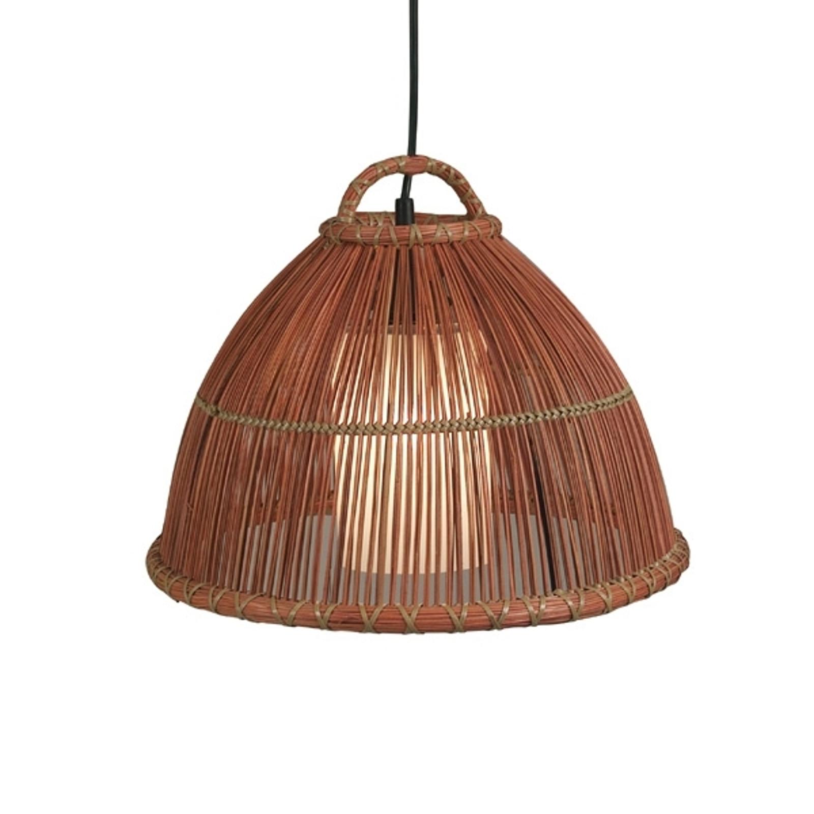 Piękna lampa wisząca Bowl, jasnobrązowa