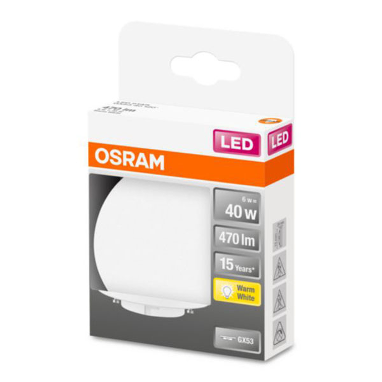 OSRAM Star Special LED GX53 6W 2.700K opale