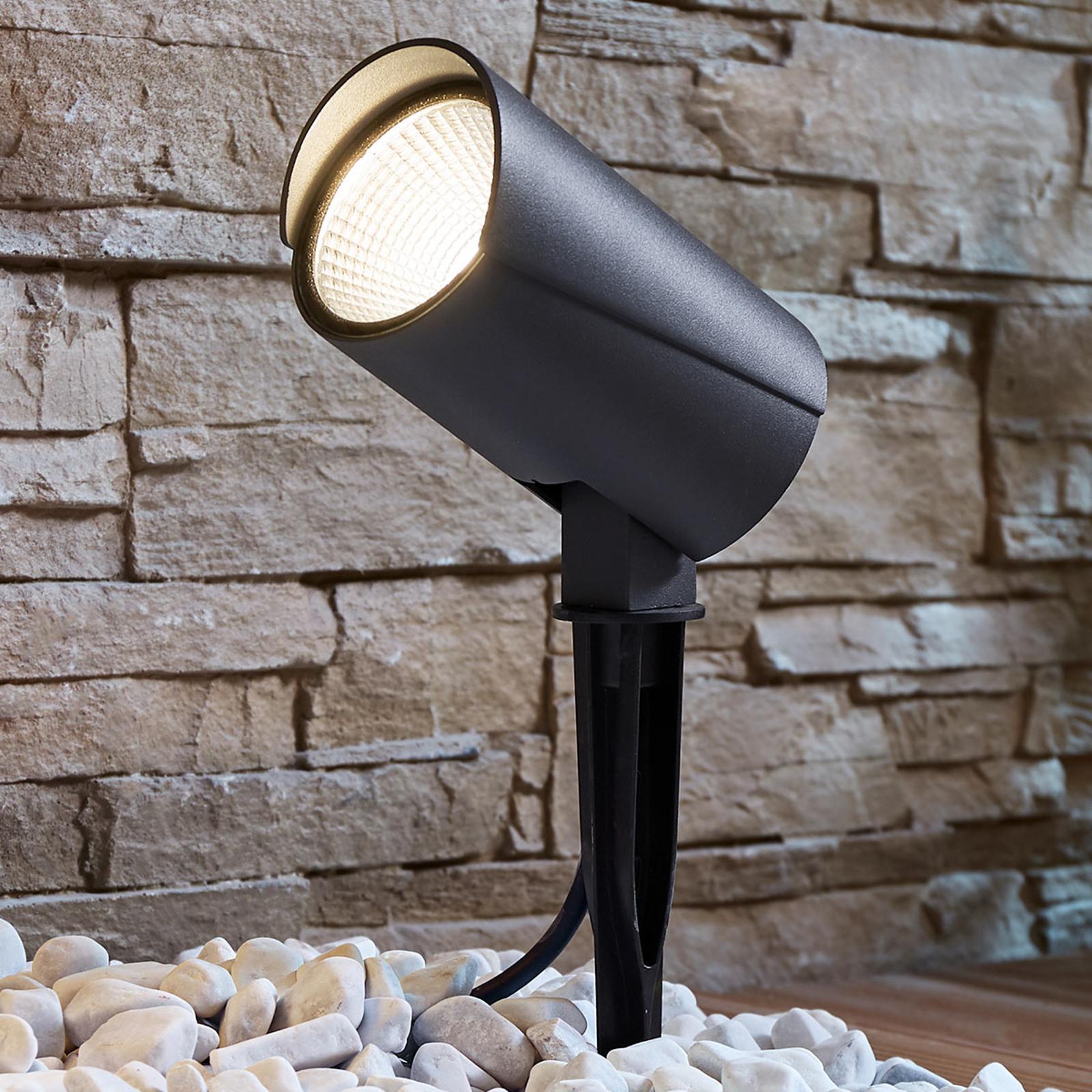 Reflektor zewnętrzny LED Anton z grotem ziemnym