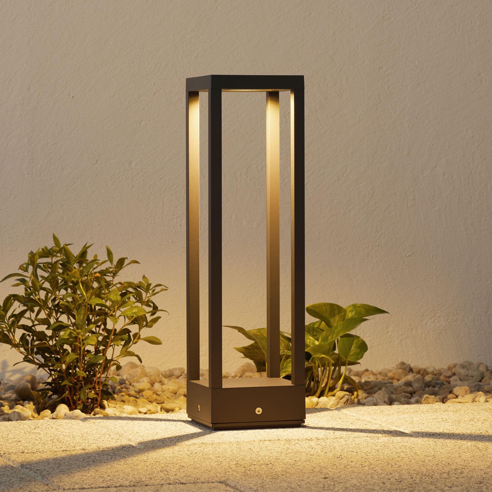 Lampioncino a LED Carlota grigio scuro, 50 cm