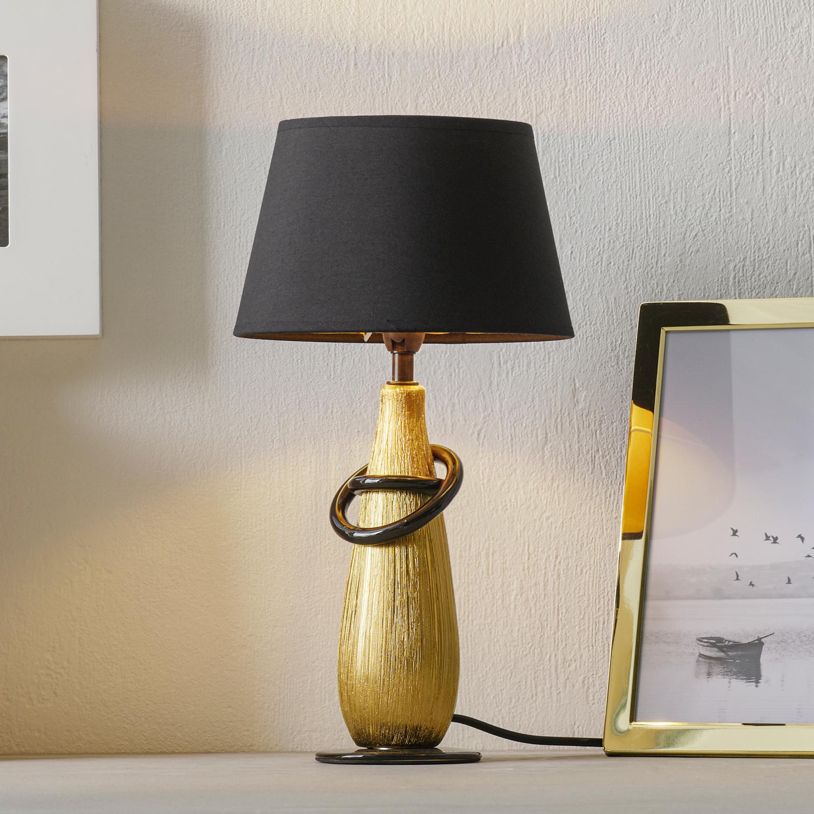 Nowoczesna, ceramiczna lampa stołowa Thebes