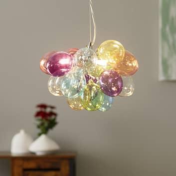 By Rydéns Gross glashänglampa, färgglad, 30 cm