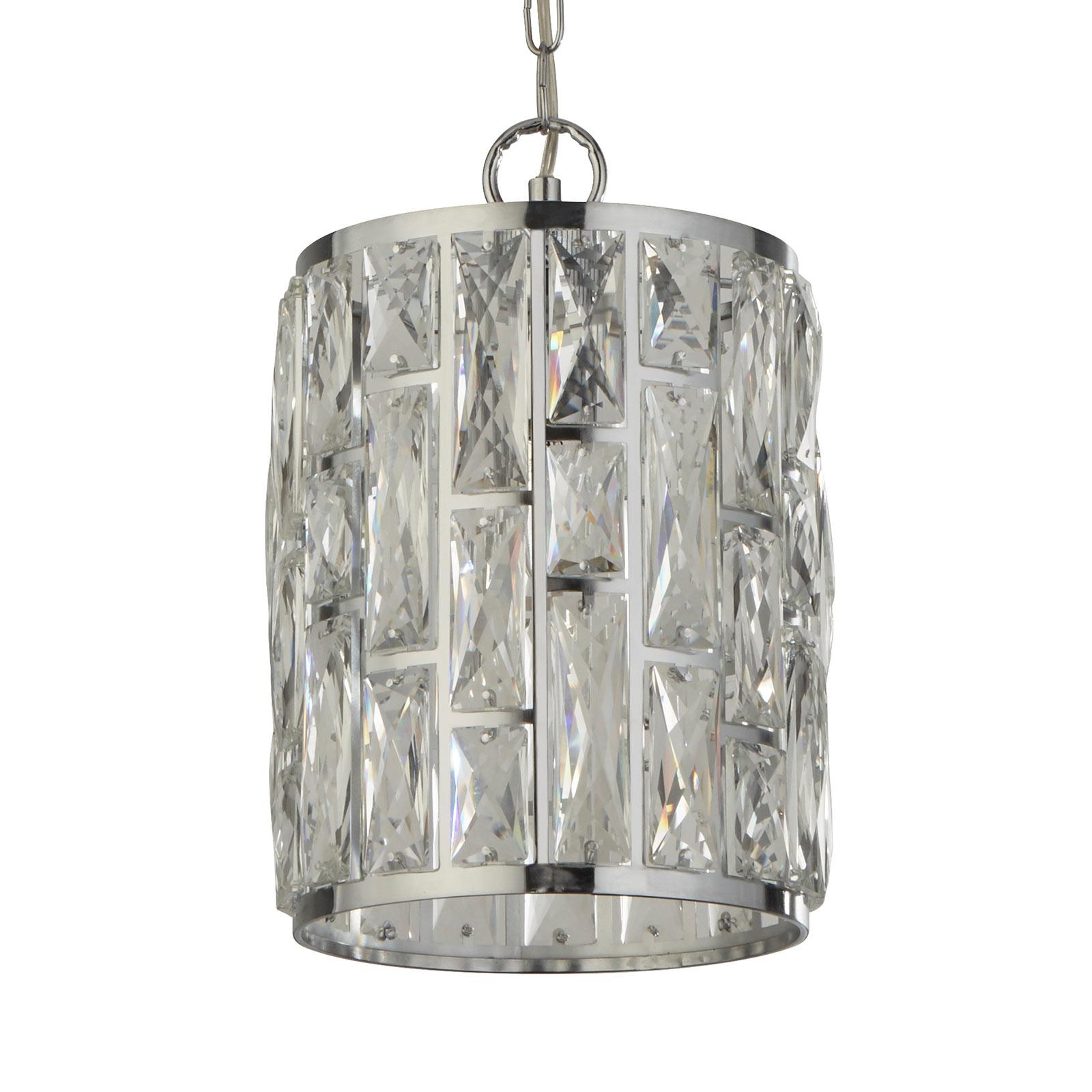 Hanglamp Bijou, kap met kristallen, Ø 22 cm