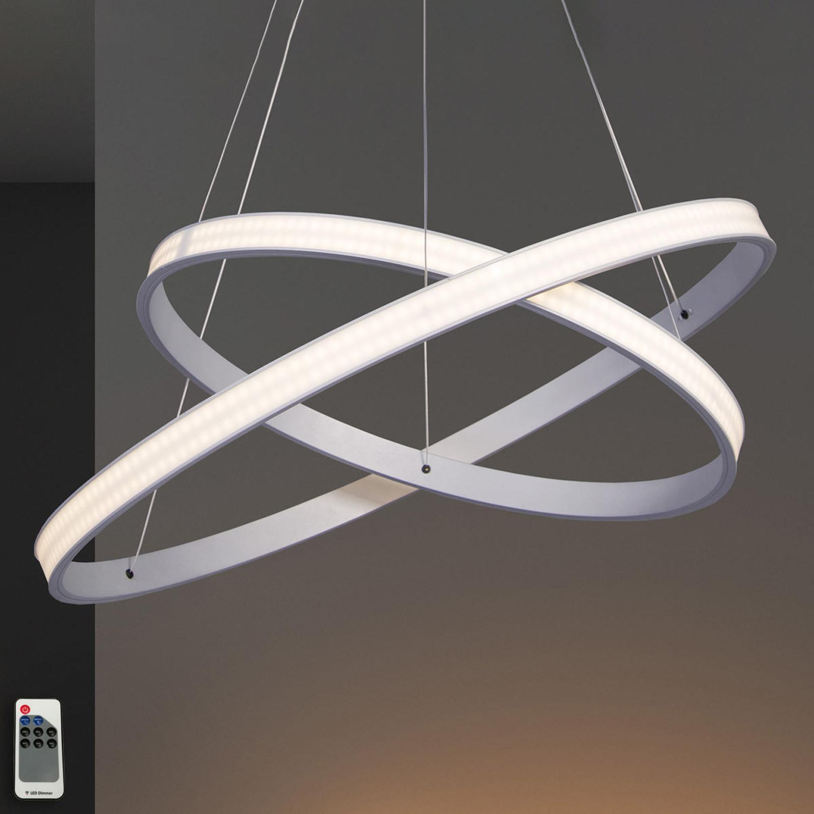 LED-Hängeleuchte Largo Ø 59 cm alu
