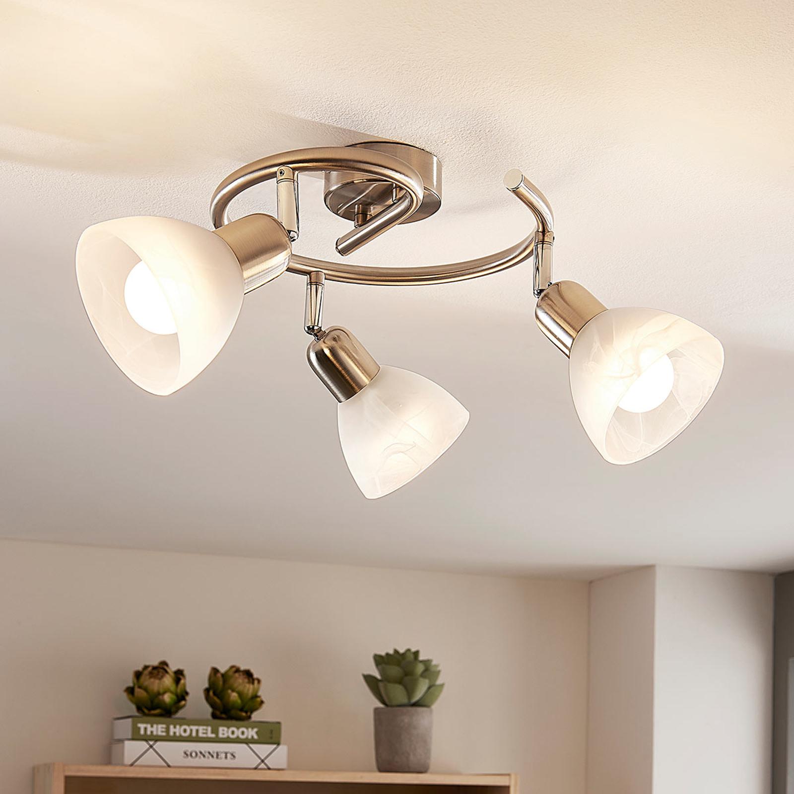 LED-Deckenrondell Paulina, weiße Gläser