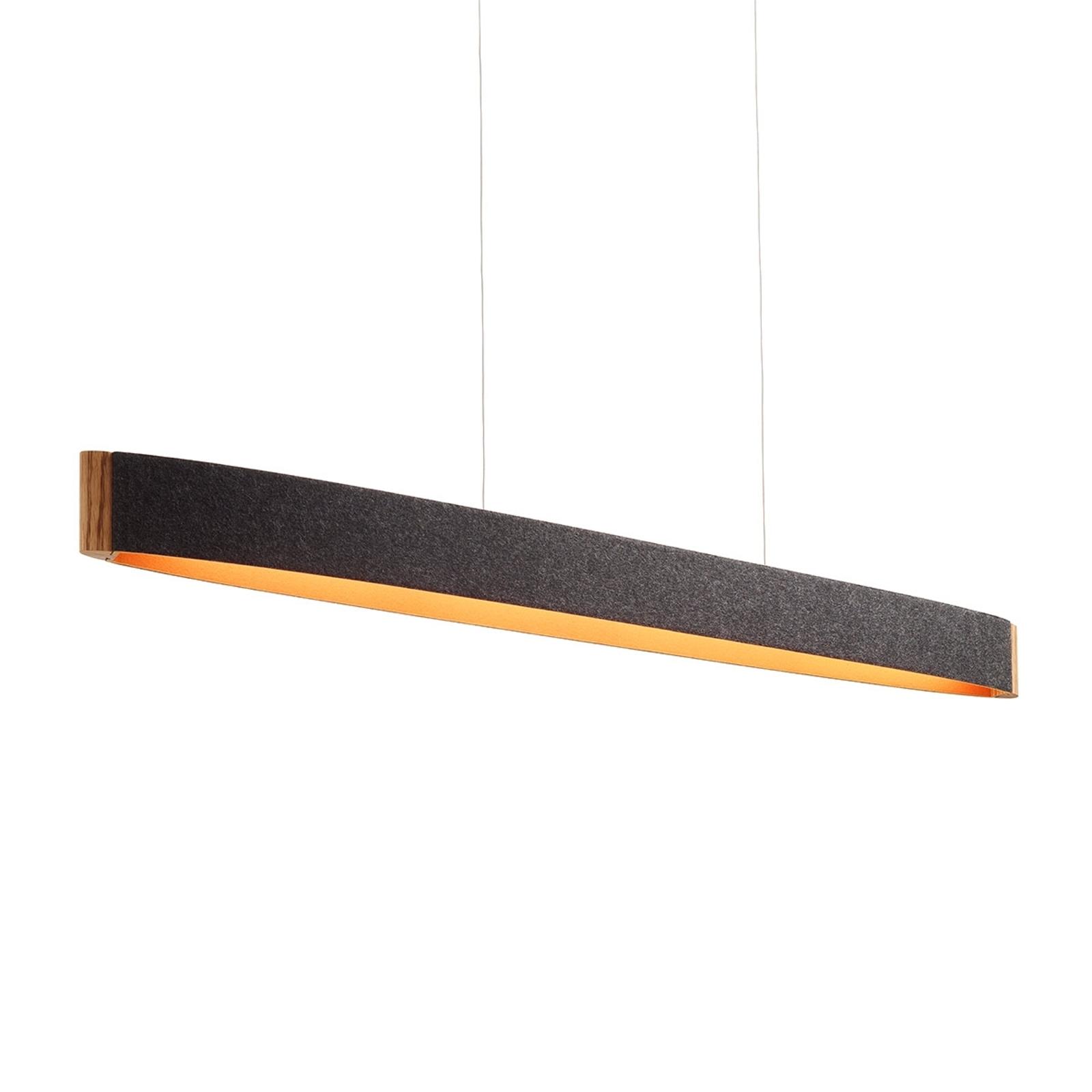 ZEP 13 - lampa wisząca, grafitowo-pomarańczowa