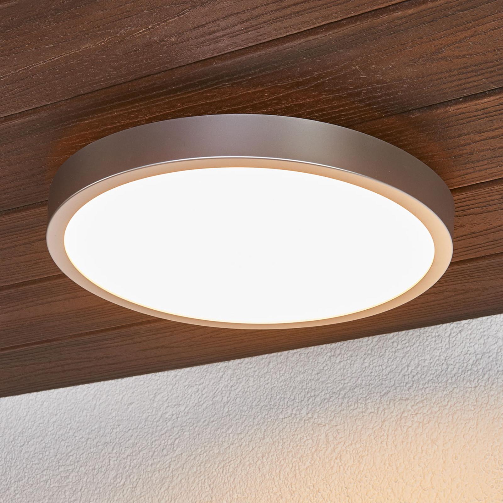 Liyan - Zilveren LED plafondlamp voor de badkamer
