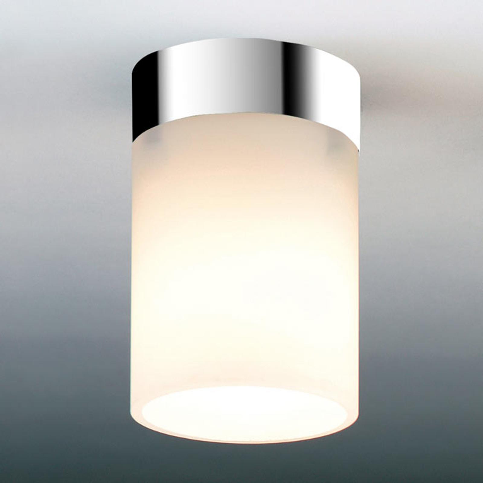 Bescheiden plafondlamp DELA BOX SHORT, chroom