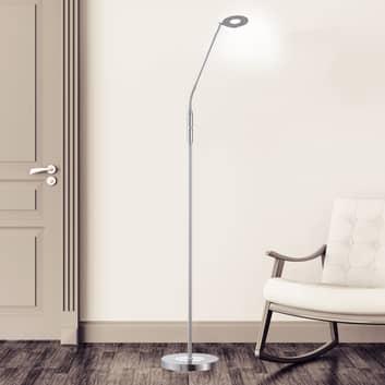 LED stojací lampa Dent, CCT, jeden zdroj, nikl