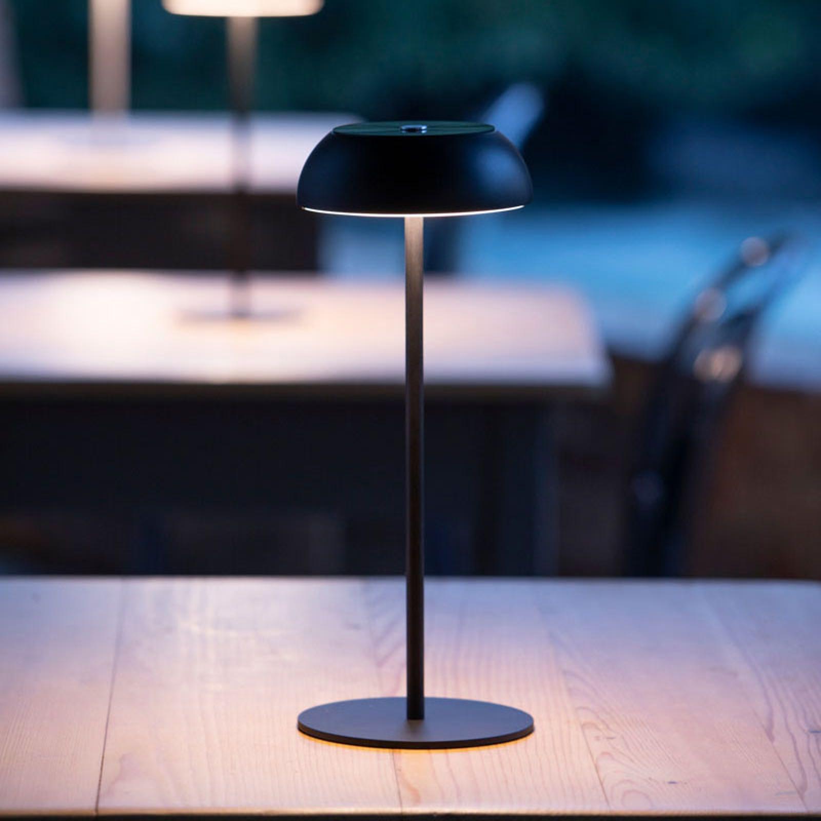 Axolight Float LED-designer-pöytälamppu, musta