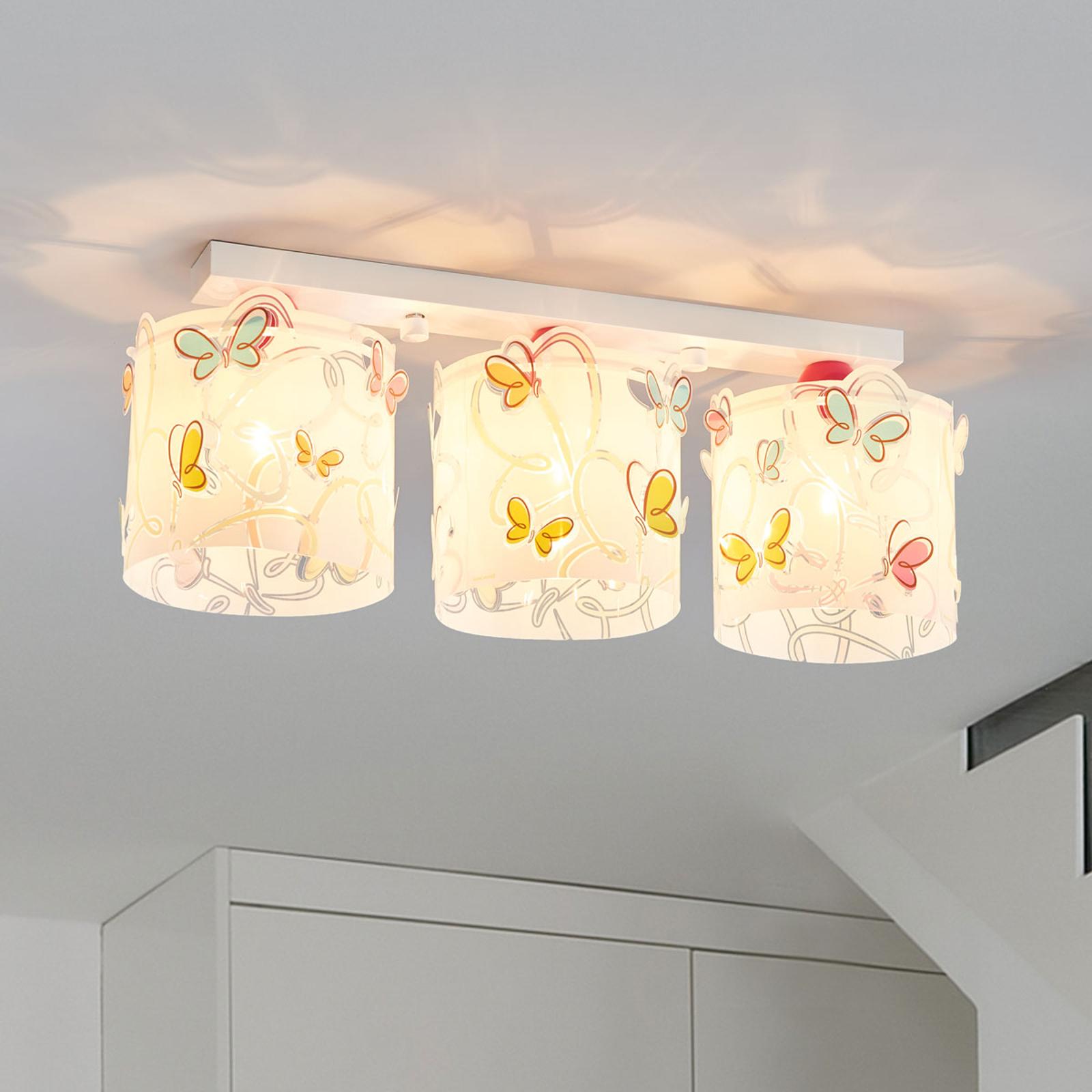 Loftlampe Butterfly til børneværelset