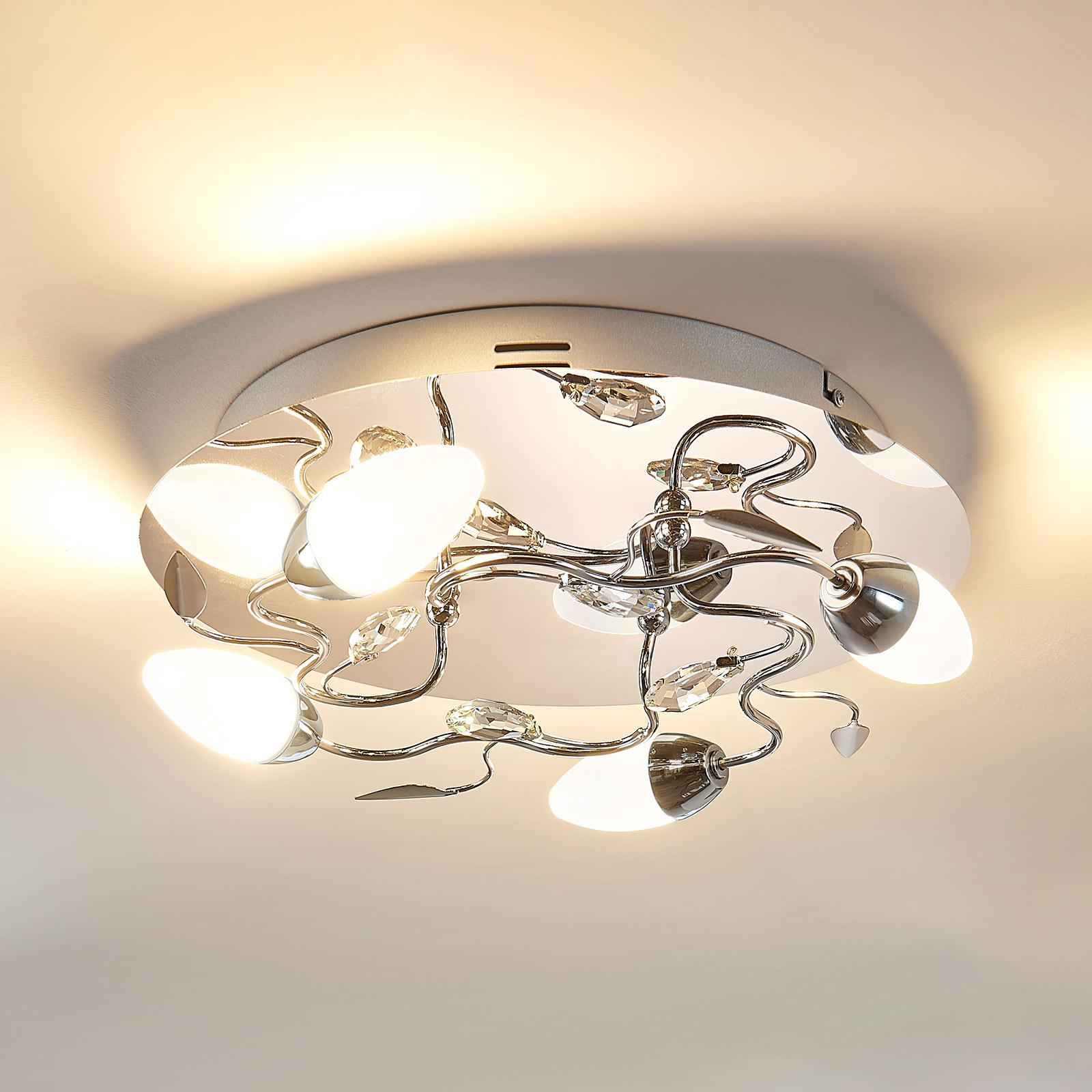 Okrągła ściemniana lampa sufitowa LED Mischa