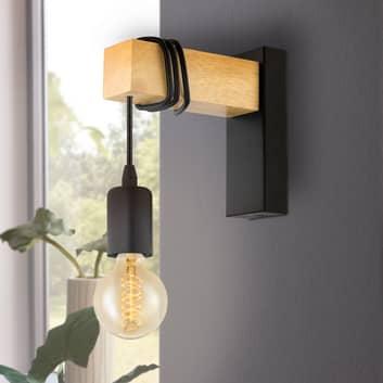 Vegglampe Townshend med elementer i tre