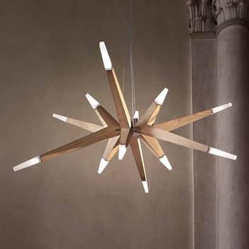 Sospensione LED Flashwood rovere, 140 cm