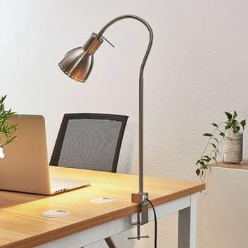 Lampa z klipsem Triska, elastyczna, nikiel, satyna