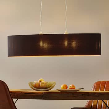 Textilní závěsné světlo Lecio, ovál, 100 cm, černé