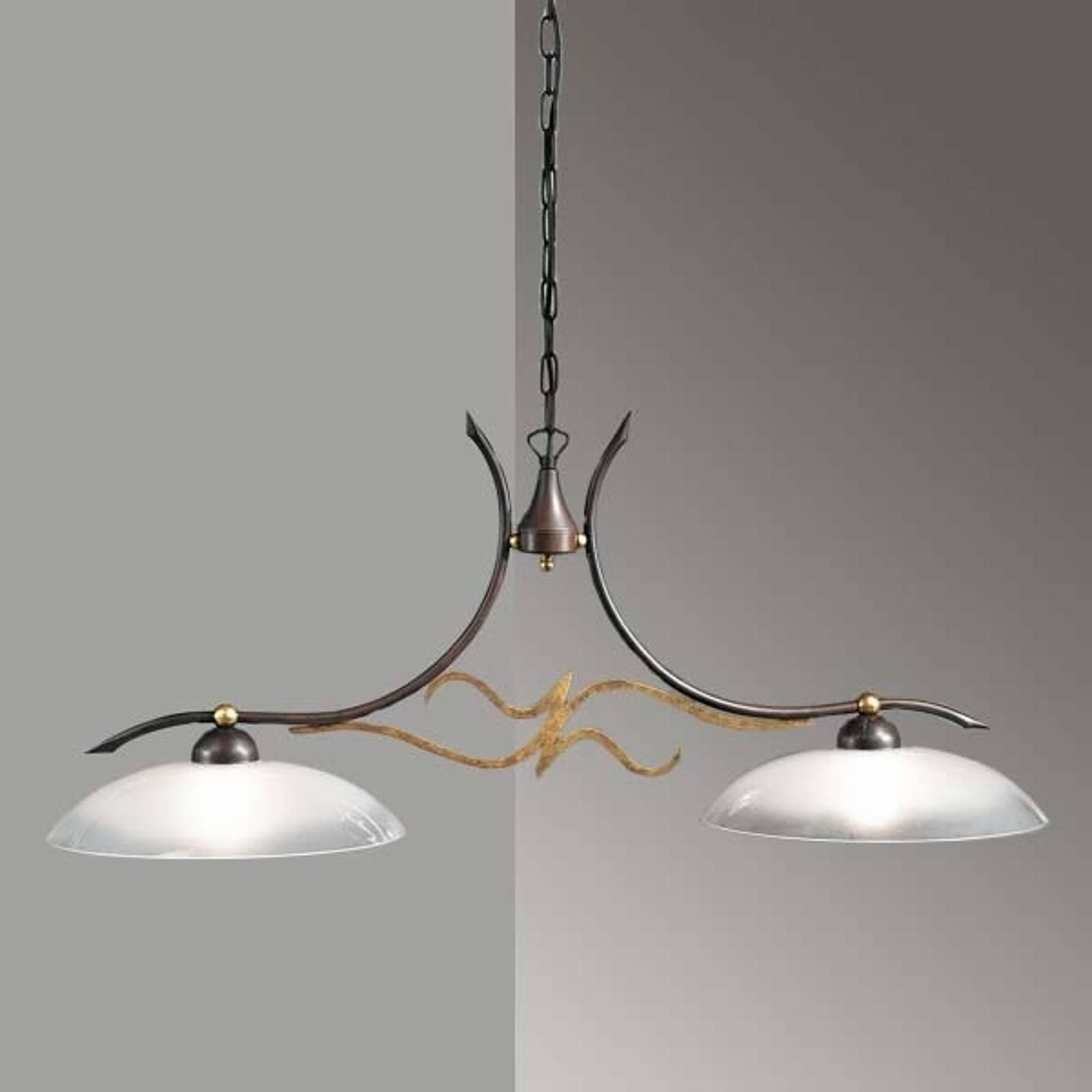 Lampa wisząca w stylu dworkowym AMABILE 2-punktowa