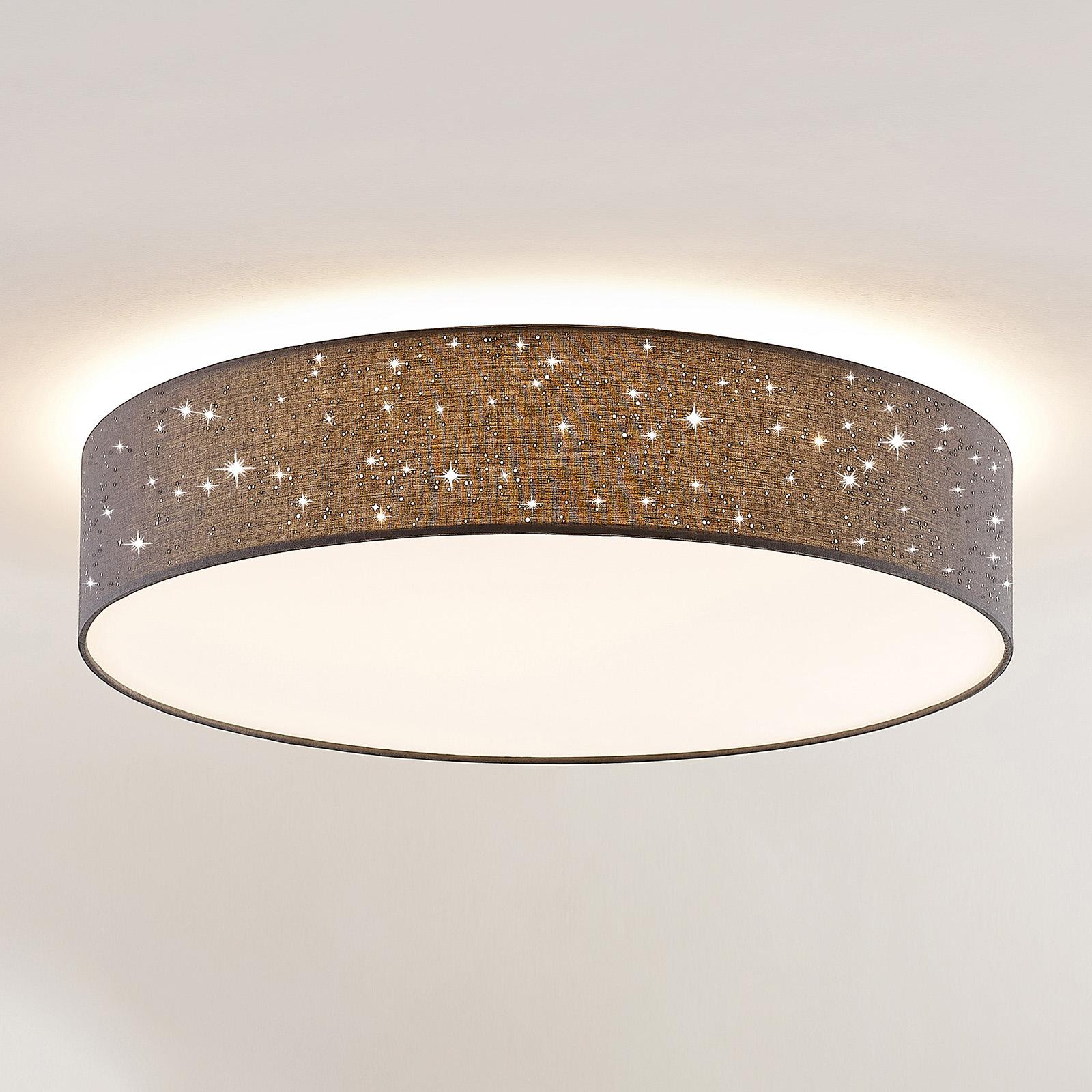 Lindby Ellamina lampa sufitowa, 60 cm, ciemnoszara