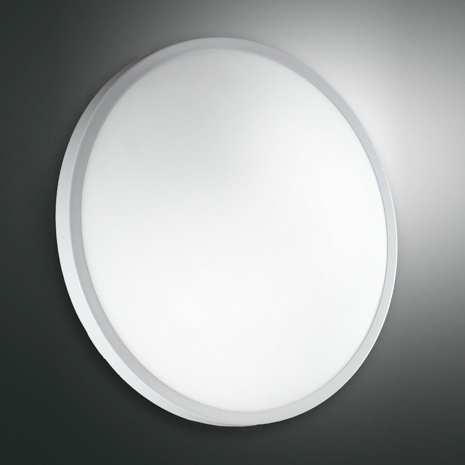 Szklana lampa sufitowa i ścienna PLAZA, 41 cm biel