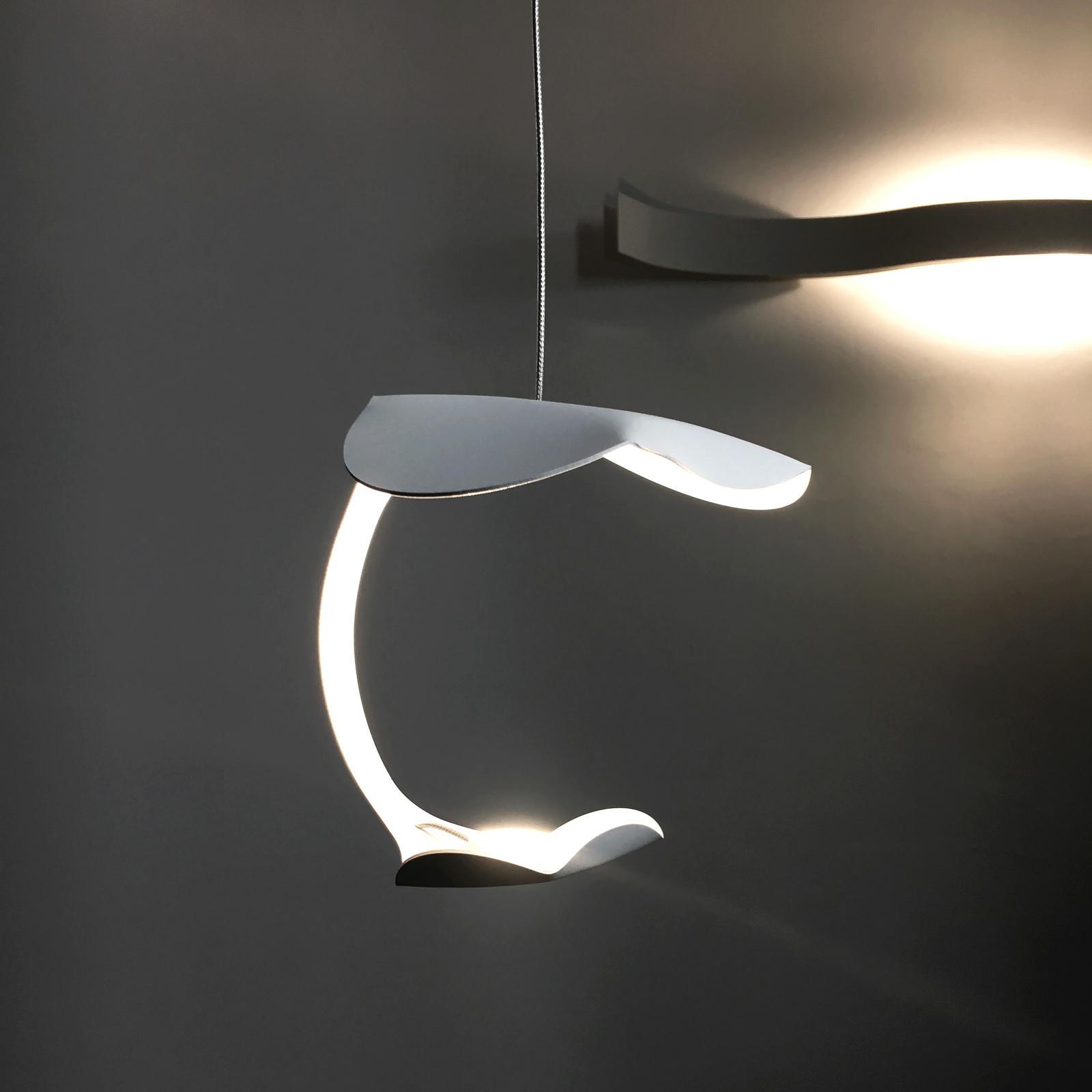 Knikerboker Le Gigine LED-Hängeleuchte 1fl weiß