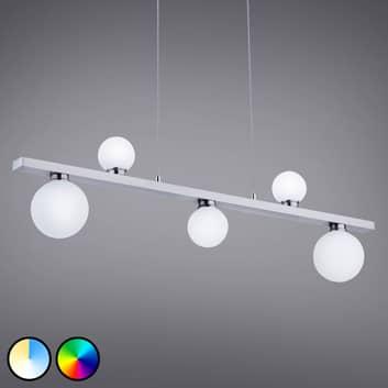 Trio WiZ Dicapo LED-pendellampa på skena, 5 lampor