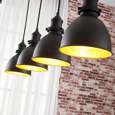Jasminka - suspension 4 lampes, noir-or
