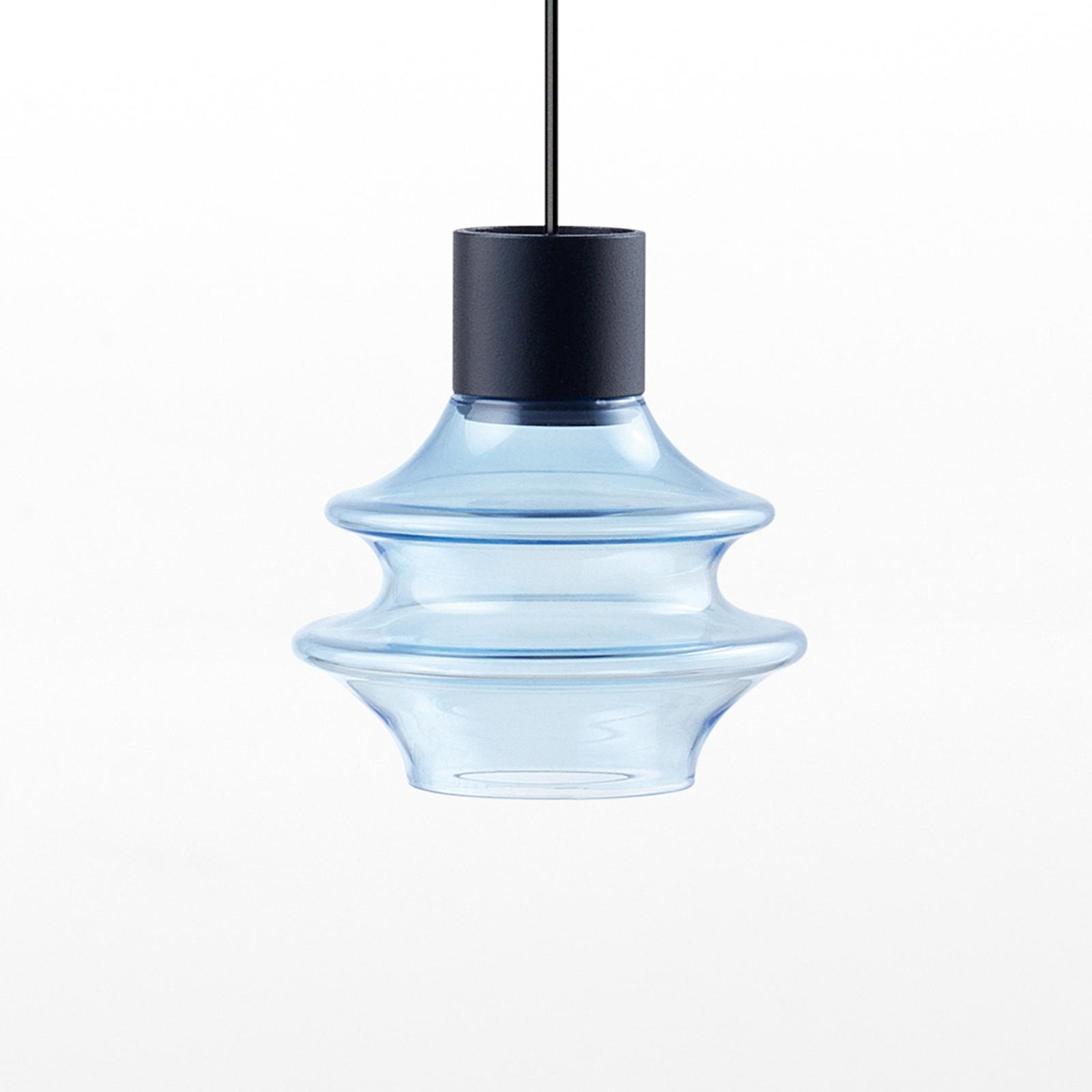 Bover Drop S/01L LED hanglamp van glas, blauw