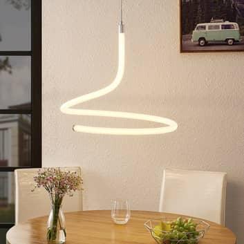 Lucande Serpentina lampa wisząca LED, ściemniana