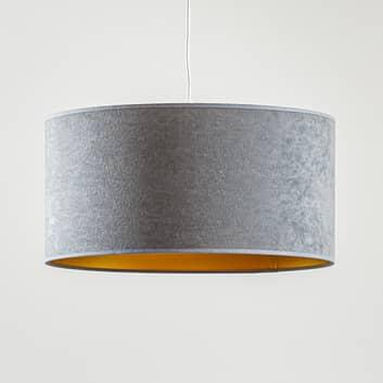 Lámpara colgante Roller, gris/dorado