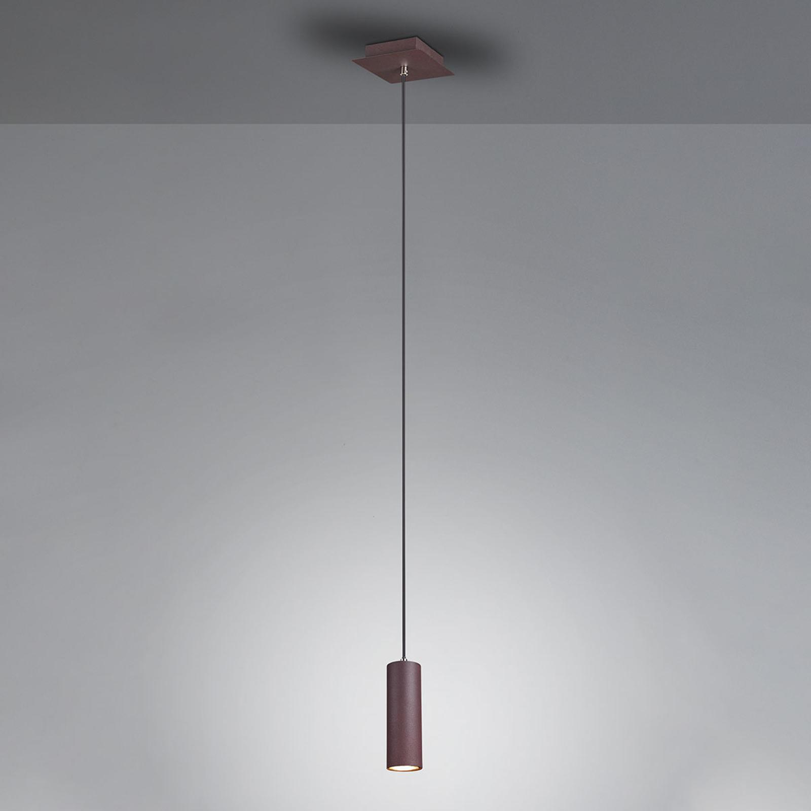 Lampa wisząca Marley rdzawobrązowa, 1-punktowa