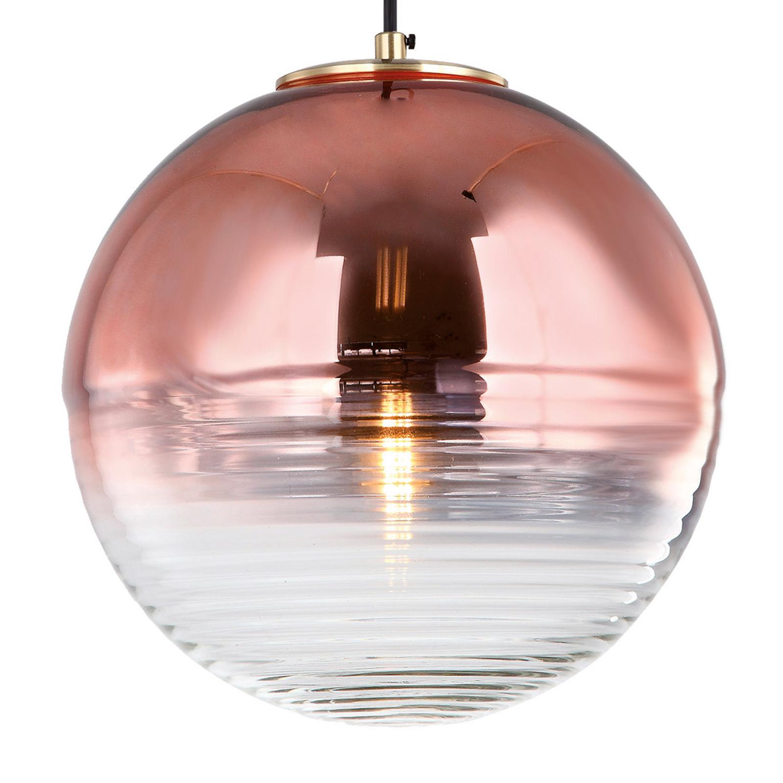 Suspension Shine avec verre miroir en cuivre
